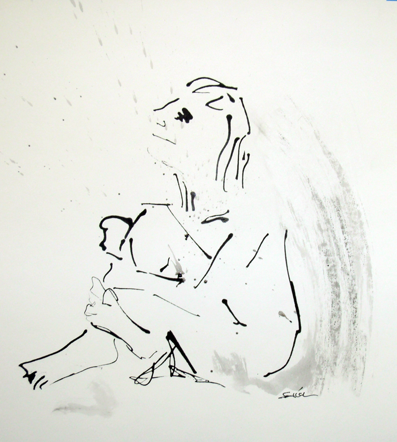 Ink and Wax on Paper 18 x 16 in 2009