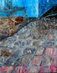 Corridor Acrylic on Canvas 48 x 38 in 1999