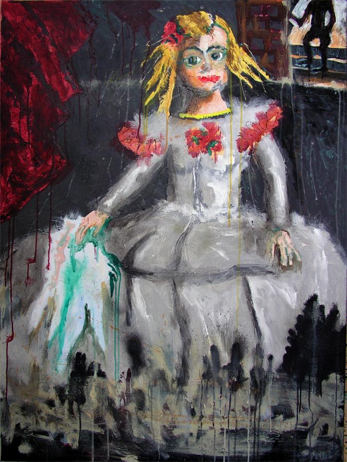 La Infanta Doña Margarita Acrylic on Canvas 48 x 36 in 1998
