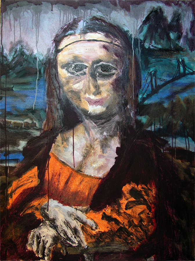 Ms.Lisa Acrylic on Canvas 40 x 30 in 1998
