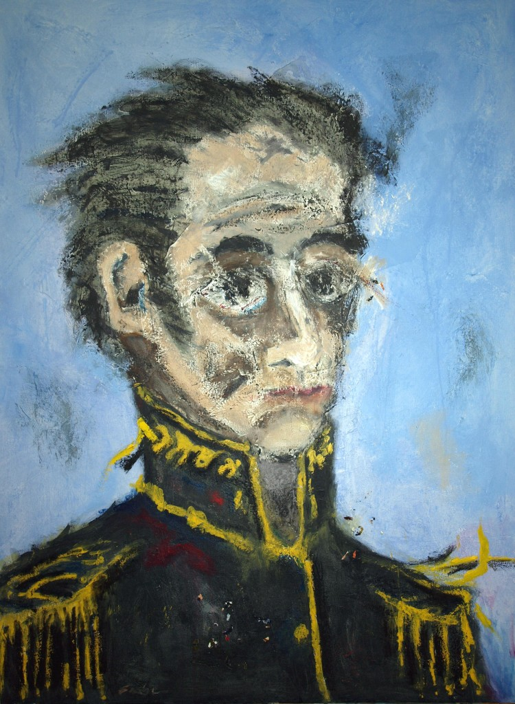 Simon Bolivar; mixed media; 40x30 in; 2010